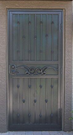 Security Screen Doors Archives - Whiting Iron and Great Gates in Phoenix AZ Security Storm Doors, Security Gates, Security Screen, Grill Door Design, Door Gate Design, Front Door Design, Wrought Iron Stairs, Metal Stairs, Grill Gate