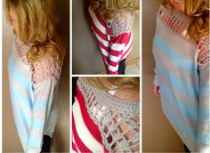 Love this sweater!...great transition piece from winter to spring, or for the cool summer nights.  Sweater can be found here www.facebook.com/shoppinktrunk.com