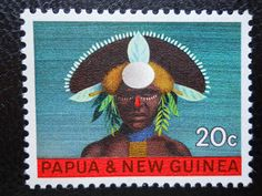 Traditional-Folk costumes: Papua New Guinea . Papua and New Guinea stamps