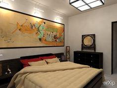 Гостевая спальня в японском стиле: интерьер, зd визуализация, квартира, дом, спальня, японский, 10 - 20 м2, интерьер #interiordesign #3dvisualization #apartment #house #bedroom #dormitory #bedchamber #dorm #roost #japanese #10_20m2 #interior arXip.com