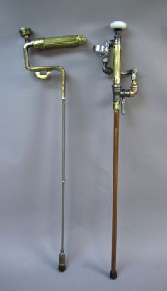 Steampunk for all ages! A steampunk cane would be really fun. If I ever need a cane, this will be what I use. Steampunk Cosplay, Viktorianischer Steampunk, Steampunk Kunst, Steampunk Crafts, Steampunk Gadgets, Steampunk Design, Steampunk Clothing, Steampunk Fashion, Steampunk Circus