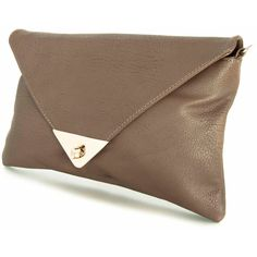 Handmade Vegan leather clutch purse Soil - the Enve Lyz - new... ($65) ❤ liked on Polyvore featuring bags, handbags, clutches, faux leather purses, animal purse, vegan purses, vegan leather purse and zipper handbag