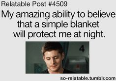 Yeah because we all know murderers are terrified of blankets and will just run away...yeah that's it.