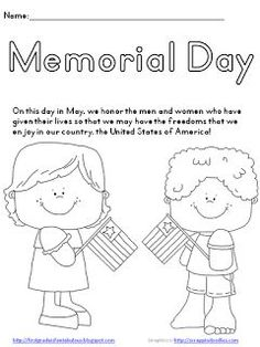 memorial day worksheets printable kids memorial day freebie memorial day coloring pagesschool