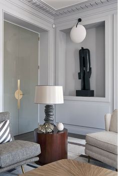 Jean Louis Deniot glamourous styling, check out the door hardware