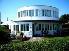 A modernist round house at the Frinton Park Estate, in Frinton-on-sea, Essex. It was designed by architect Oliver Hill in November 1934, and altered by another group of architects before its completion in 1935.