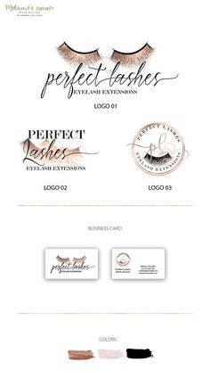 f556155ffc1 Lashes logo, Eyelash logo, Makeup logo, Small Business logo, Beauty lashes  logo, Premade branding kit, Branding logo, Custom logo 084