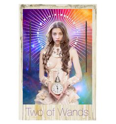 """Two of Wands"" by auraforlaura ❤ liked on Polyvore featuring art"