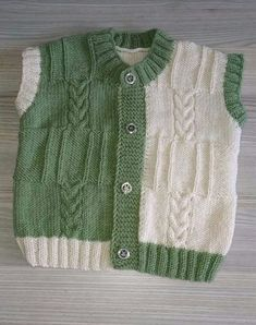 2 Colorful Vested Vest Making. For 4 years. - Minire - - 2 Colorful Vested Vest Making. For 4 years. Baby Cardigan Knitting Pattern, Baby Boy Knitting, Sweater Knitting Patterns, Knitting For Kids, Knit Baby Sweaters, Knitted Baby Clothes, Girls Sweaters, Cute Baby Dresses, Baby Dress Design