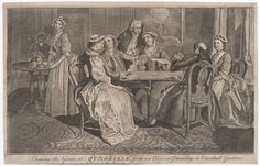 Playing the game at quadrille : from an original painting in Vauxhall Gardens | 1750 | Lewis Walpole Library