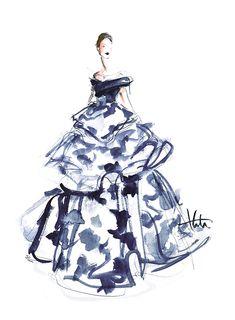 Carolina Herrera Fall 2015, by Katie Rodgers/Paper Fashion