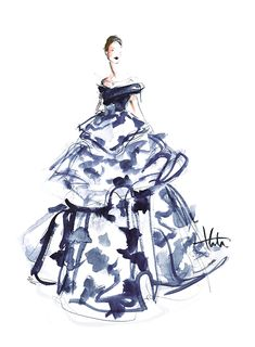 Carolina Herrera Fall 2015, by Katie Rodgers/Paper Fashion