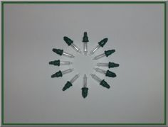 100 Clear Replacement Mini Gl Bulbs Incandescent 2 5 Volt Lights Green Base Christmas String