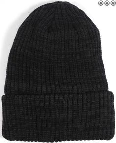 e784466a1570c Wholesale Winter Knit Long Cuff Beanie Hats - Mixed Black