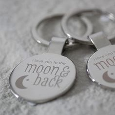 'Moon And Back' Keyring - stocking fillers