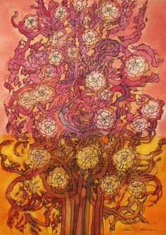 """The Tree of Life #30, 2012. Watercolor and ink on paper,14""""x20"""""""