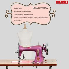 The Usha Butterfly Straight Stitch Machine promises great performance and looks beautiful too! http://goo.gl/1qnlX5
