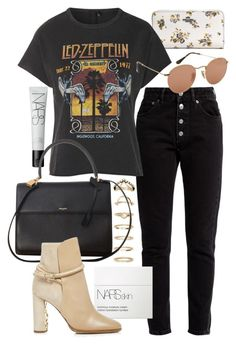 """Untitled #21641"" by florencia95 ❤ liked on Polyvore featuring Balenciaga, NARS Cosmetics, Coach, Forever 21, Topshop, Yves Saint Laurent, Burberry and Ray-Ban"