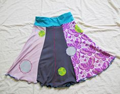 Rock aus Altkleidern / Skirt made from old clothes