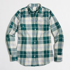 J.Crew+Factory+-+Plaid+classic+button-down+shirt+in+perfect+fit