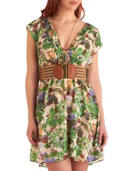 Holy spring beauty!  Leaf Me Breathless dress from ModCloth only $54.99 w/belt.