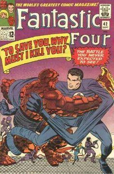 Fantastic Four 42 comic, Gift, Jack Kirby art, Silver Age books. Marvel Comics in VF- Univers Marvel, Comic Book Artists, Comic Book Characters, Comic Artist, Marvel Characters, Stan Lee, Marvel Comic Books, Comic Books Art, Comic Superheroes
