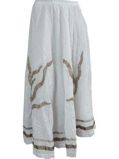 "Summer White Skirt- Boho Gypsy Hippy Skirts, Bohemian Skirt, Length 33"" Mogul Interior,http://www.amazon.com/dp/B00CPJM0JI/ref=cm_sw_r_pi_dp_EsQbsb0W468GHM1W"