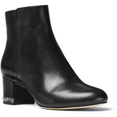 Michael Michael Kors Women's Sabrina Ankle Boots (151.350 COP) ❤ liked on Polyvore featuring shoes, boots, ankle booties, black, black ankle boots, ankle boots, side zipper boots, michael michael kors booties and rubber sole booties