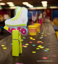Paper and Cake | NEON roller skate party {real life party} | http://www.paperandcake.com