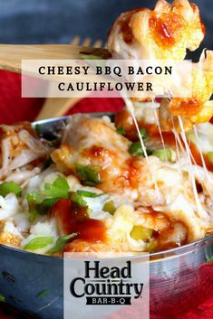 CHEESY BBQ BACON CAULIFLOWER | Best BBQ Sauce Recipes | The Food in my Beard Head Country Bbq Sauce Recipe, Best Bbq Sauce Recipe, Sauce Recipes, Keto Recipes, Dinner Recipes, Healthy Snacks To Make, Healthy Grilling Recipes, Bbq Bacon, Yummy Food