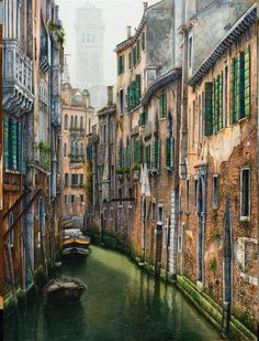Canale bei Frari / Venetia Gouache, Museum, Full Zip Hoodie, Nike Sportswear, Venice, Italy, Hoodies, Modern, Travel