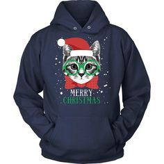 We wish you a merry Christmas. Great design for you and for your family. If you are a proud pet owner & love cats then Merry Christmas Cat tee or hoodie is for you! Check more Men Women Cat inspired t