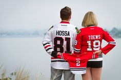 It looks like this Montana couple is expecting a new #Blackhawks fan!