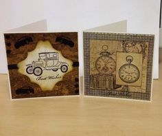 Two more men's cards....the distress look !!!!