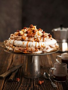 Pavlova, Panna Cotta, Sweet Tooth, Bakery, Deserts, Good Food, Food And Drink, Pie, Sweets
