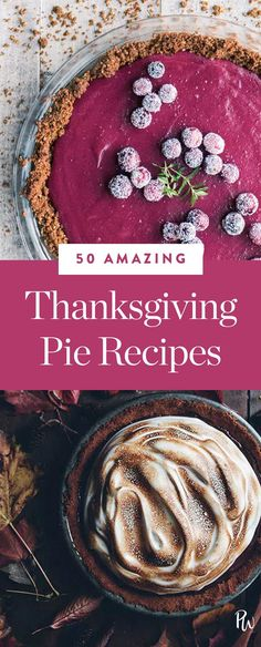 Here are 50 of our favorite Thanksgiving pie recipes—from tried-and-true classics, to new ideas that might just become tradition in your family. #thanksgivingpie #pierecipes #pierecipes #pies #thanksgiving #thanksgivingdesserts #dessertrecipes