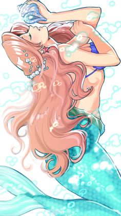 Ariel Disney princess. princesa disney. Fan art. Beautiful. Diva. Fashion. Woman. Comic. Fanart