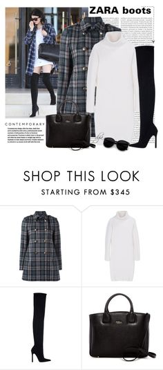 """""""Zara boots"""" by dgia ❤ liked on Polyvore featuring Oris, Kendall + Kylie, Aspesi, DKNY, Zara and Furla"""
