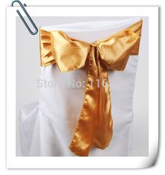 Factory Price! 100pcs/Lot! Stain CHAIR COVER BOWS WEDDING SASHES  For Wedding Free Shipping