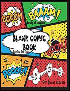 Build Your Own Comic Book Blank// Empty Cartoon Strips  8.5 x 11 in 100 Pages Multi Panels Comic Book Paper Template Journal Notebook Format Comic Book Maker