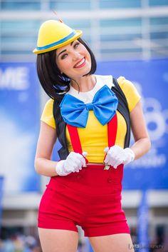 Disney Cosplay Pinocchio by Megan Golden Cosplay Costume Halloween, Carnaval Costume, Disney Halloween, Cool Costumes, Halloween Party, Mouse Costume, Disney Cosplay Costumes, Pocahontas Costume, Woman Costumes