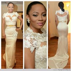 Nigerian Wedding: Toke Makinwa's Wedding Dress By April by Kunbi All Sorts Of Gorgeous!