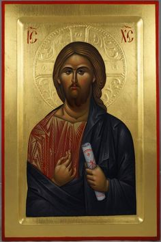 Jesus Christ Pantocrator Premium Quality Hand-Painted Icon. Available for Sale!
