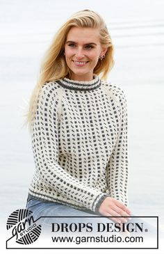 Reykjavik / DROPS - Free knitting patterns by DROPS Design Knitted jumper with raglan in DROPS Lima. The piece is worked top down with Nordic pattern. Sizes S - XXXL. Drops Design, Knitting Patterns Free, Free Knitting, Crochet Patterns, Nordic Pattern, Jumpers For Women, Sweaters For Women, Easy Crochet, Knit Crochet