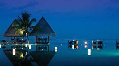 Maldives at Kuda Huraa Infinity Pool at night