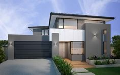 Search and compare new home designs in Victoria - Prices, Floorplans, Inclusions, Facades, Display Homes and more. iBuildNew - the intelligent way to find your match. Brick Facade, Facade House, Timber Handrail, Stone Benchtop, Exterior Paint Colors, Modern Exterior, Loft, House Painting, Cladding