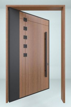 Wooden Main Door Design, Garage Door Design, Room Door Design, Door Design Interior, Modern Entrance Door, Entrance Doors, Porte Design, Flush Doors, Interior Minimalista