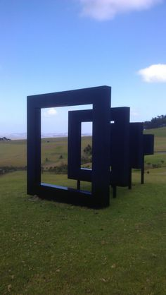 Red Square/Black Square.  This piece looked completely different from every angle.  It was one of my favourites.  http://www.matakanacountry.co.nz/home/home/ #matakana #New Zealand #travel #sculpture #art