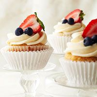 I might make this for my tea party.   Easy Berry Cheesecakes From Better Homes and Gardens, ideas and improvement projects for your home and garden plus recipes and entertaining ideas.