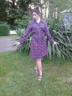Vintage dress argyle pattern with matching by FernsAndFogVintage, $30.00